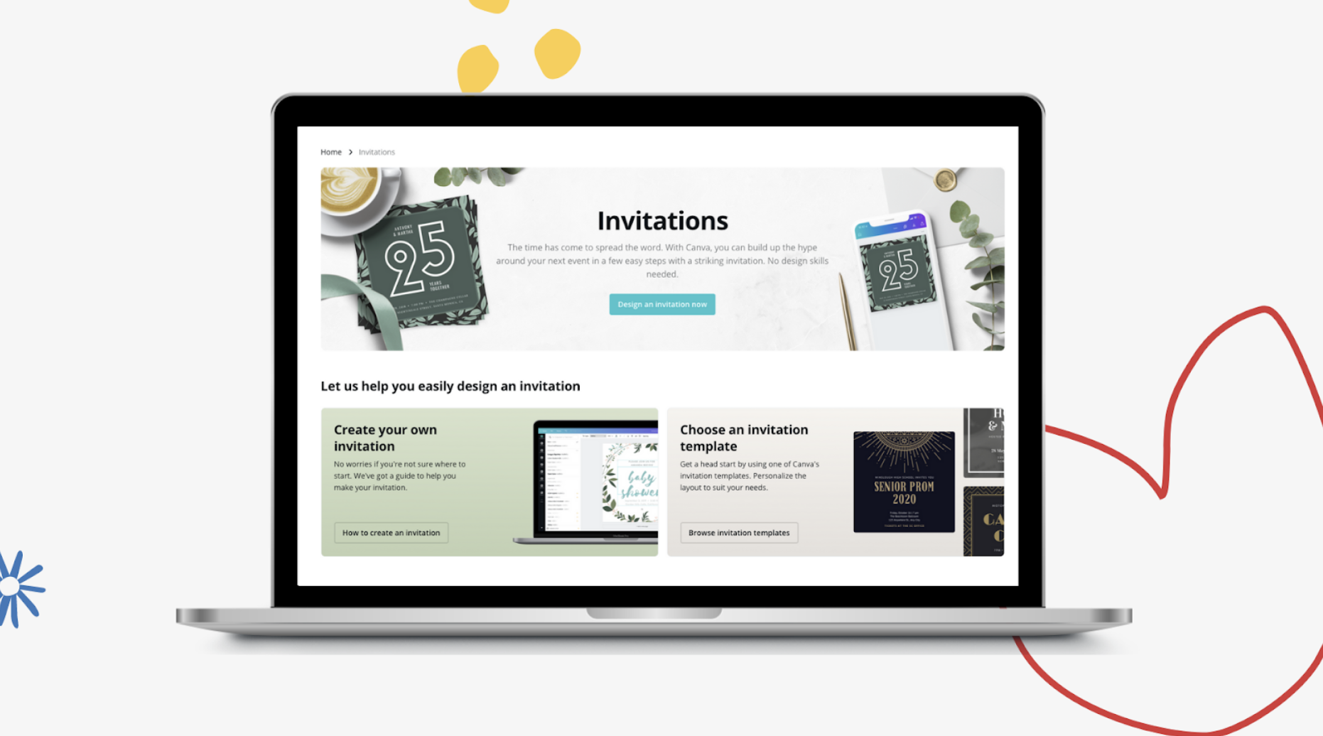 Canva Digital Invitations