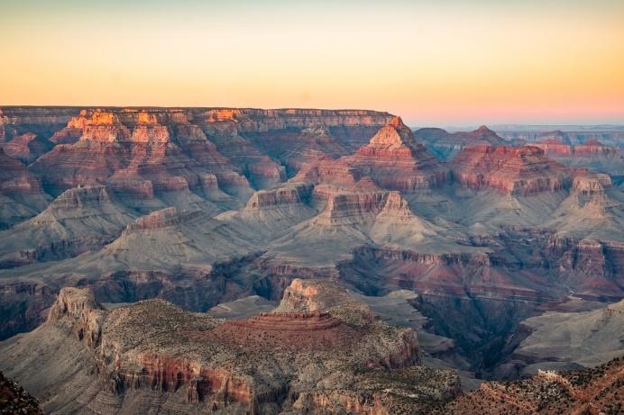 bird eye view of Grand Canyon during daytime
