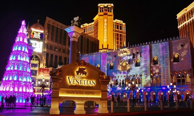 Venetian, Las Vegas, Decorative, Evening, Lights